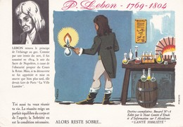 BUVARD ,,,,P.  LEBON   1769-1804,,,,,,SANTE  SOBRIETE ,,,,, - Electricity & Gas