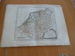 Carte Atlas Vagondy 1778 Gravée Par Dussy 40 X 29cm Mouillures Pays Bas Provinces Unies Westphalie - Geographical Maps