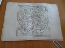 Carte Atlas Vagondy 1778 Gravée Par Dussy 40 X 29cm Mouillures Bohême Silésie Moravie Lusace - Geographical Maps