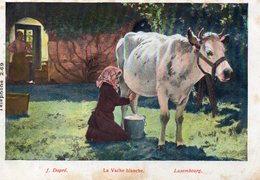 CPA A LA SCABIEUSE - 97 RUE DE L'HOTEL DE VILLE - LYON - J. DAPRE - LA VACHE BLANCHE - LUXEMBOURG - Publicité