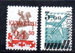 797 490 - KAZAKISTAN 1992 ,  Unificato N. 14 + 15  *** - Kazakistan