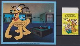 2141  WALT DISNEY -  Commonwealth Of DOMINICA  ( PLUTO'S 50 Th ANNIVERSARY ) - Disney