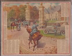CALENDRIER  DES  PTT  1920 ,,,,QUARTIER   GENERAL ,,TBE,,,, SANS FEUILLET  INTERIEUR - Calendars