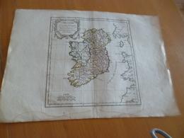 Carte Atlas Vagondy 1778 Gravée Par Dussy 40 X 29cm Mouillures L'Irlande Irland - Geographical Maps