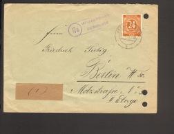 Alli.Bes.24 Pfg.Ziffer A. Fernbrief Aus Wiesenbach ü.Neckargemünd 1947 M.Landpoststempel - Gemeinschaftsausgaben