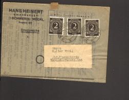 Alli.Bes.3 X 2 Pfg.Ziffer A.Drucksache Vorderseite Aus Schwerin  1947 - Gemeinschaftsausgaben