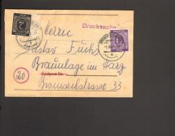 Alli.Bes.2 U.6 Pfg.Ziffer A.Streifband-Drucksache Aus Frankfurt  1946 - Gemeinschaftsausgaben