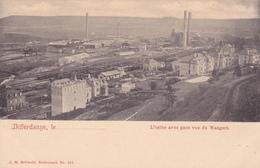 46/ Differdange, L'usine Avec Gare Vue Du Wangert - Differdange