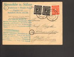 Alli.Bes.2 X 2 U.8 Pfg.Ziffer (Farbe!) A.Fernpostkarte 1947 Aus Anklam - Gemeinschaftsausgaben
