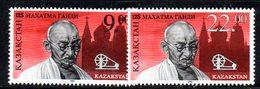 808 490 - KAZAKISTAN 1995 ,  Unificato N. 102/103  ***  Gandhi - Kazakistan