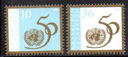 809 490 - KAZAKISTAN 1995 ,  Unificato N. 104/105  ***  Onu - Kazakistan