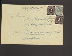 Alli.Bes 2 X 2 U.12 Pfg.Ziffer A. Geschäftspapiere 1946 Aus Hitzacker Papierhandlung Behlendorff - Gemeinschaftsausgaben