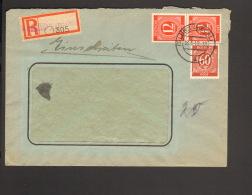 Alli.Bes 24 U.60 Pfg.Ziffer A.Einschreibebrief 1946 Aus Lübz (Meckl) Ankunftstempel - Amerikaanse, Britse-en Russische Zone