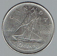 Pièce De 10 Cents 1867 1992 - Canada