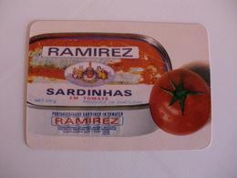 Sardinhas Ramirez Leça Da Palmeira Portugal Portuguese Pocket Calendar 1986 - Calendars