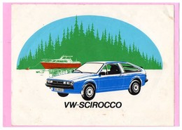 AUTOCOLLANT STICKER  VOITURE  VW-SCIROCCO  DIMENSION 19cmX14,50cm  état  CORRECT JAC DURO-DX - Caps