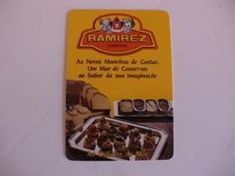 Conservas Ramirez Leça Da Palmeira Portugal Portuguese Pocket Calendar 1987 - Calendars