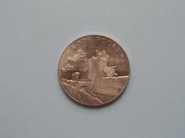 RODE POORT * 1317 - 100 Stoeten ( Zilverkleur > 35 Mm. - Details, Zie Foto's ) Antwerpen ! - Tokens Of Communes