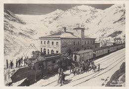 Bernina-Bahn - Lok Mit Vorgespanntem Pflug Auf Alp Grüm - Foto A.Steiner - 1931        (P-145-60618)P - Trains