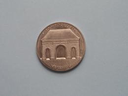 HERENTALS 100 POORTERS - 1982( Zilverkleur > 35 Mm. - Details, Zie Foto's ) ! - Tokens Of Communes