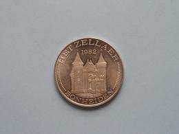 BONHEIDEN - HET ZELLAER - 1982 / 100 KRUIWAGEN ( Zilverkleur > 35 Mm. - Details, Zie Foto's ) ! - Jetons De Communes