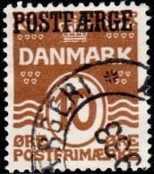 ~~~ Denmark 1927 - POSTFÆRGE Overprint - Mi. 11 (o) CV 10 Euro ~~~ - Paquetes Postales