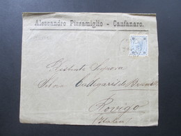 Österreich / Italien Um 1890 Nr. 54 EF Alessandro Pizzamiglio Canfanaro. Stempel Candanaro - Briefe U. Dokumente