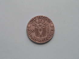 VZW ECCOMM Stad Mechelen - 1982 - 50 Mechelaar ( Metaalkleur > 32 Mm. - Details, Zie Foto's ) ! - Fichas De Municipios