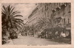 Cpa 20 2A AJACCIO  Cours Grandval , Animée, Automobile Citroën ,au Dos Timbres Mercure, Pétain - Ajaccio