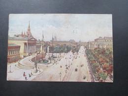 Österreich 1921 AK Wien Mit Frankatur Wappenzeichnung. Stempel: Kinderhilfsaktion - 1918-1945 1. Republik