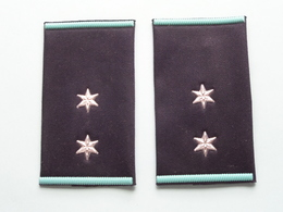 2 STER / STAR ( Paar / Couple ) ( Details, Zie Foto's ) ! - Uniformes