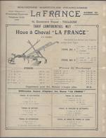 Toulouse 1921  Pub Machine Agricole La France Houe Bineuse Divers - Agriculture