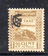827 490 - ALBANIA 1920 , Segnatasse Il N. 16  Linguelle Pesanti * - Albania
