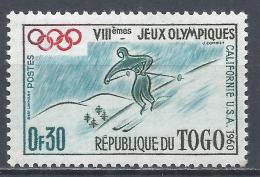 Togo 1960. Scott #369 (MNH) Winter Olympic Games, Squaw Valley, Skiing * - Togo (1914-1960)