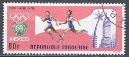 Togo 1967. Scott #C84 (U) Runners, Summer Olympics Emblem, View Of Mexico City * - Togo (1960-...)