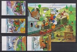 2151  WALT DISNEY  - Commonwealth Of DOMINICA  (  60 Th Anniversary Of Mickey Mouse ) Disneyland Attraction - Disney