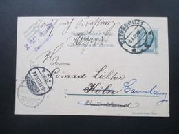 Österreich 1905 Ganzsache Von Czernowitz 1 Nach Köln Und Dann Weitergeleitet Nach Konstanz. 3 Stempel - 1850-1918 Imperium