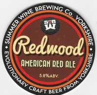 SUMMER WINE BREWING CO (HOLMFIRTH, ENGLAND) - REDWOOD AMERICAN RED ALE - KEG CLIP FRONT - Signs