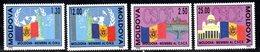 831 490 - MOLDAVIA MOLDOVA 1992 , Unificato Serie  N. 39/40+41/42  ** - Moldavia