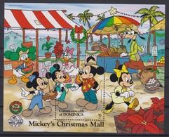 2152  WALT DISNEY - Commonwealth Of DOMINICA  (  Mickey's Christmas Mall )  Christmas 1988 . - Disney