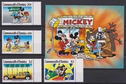 2153  WALT DISNEY - Commonwealyh Of DOMINICA ( The Glamour Of Hollywood ) Starring Mickey . - Disney