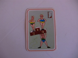 Sports Cartoon Comic Portugal Portuguese Pocket Calendar 1985/1986 - Calendars