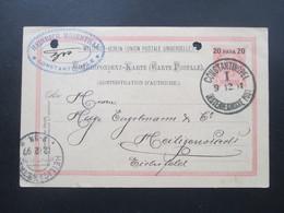 Österreich / Levante 1897 GA P10 Heinrich Rosenthal Constantinople AK Stempel KOS Heiligenstadt (Eichsfeld) - Levante-Marken