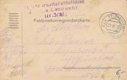 Feldpostkorrespondenzkarte Militärarbeiterabteilung K.k. Landwehr Nr. 3/21 - Feldpost 112 - 1915 (35297) - 1850-1918 Imperium