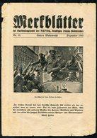 Merkblätter No 12 / Germany WWII / December 1940 - German
