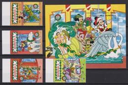 2155  WALT DISNEY -commonwealth Of DOMINICA ( Christmas 1990 ) Disney Characters Overlapping Fairground Carousel Animals - Disney