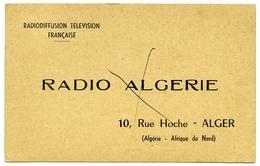 QSL : RADIO ALGERIE - AYLESBURY, ENGLAND, 1958 - Radio