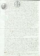 GOURIN - MORBIHAN - Acte Fait Le 5 - 8bre 1816 à GOURIN - Voir Les 4 Scans - Très Beau - Port 2,10€ - Cachets Généralité
