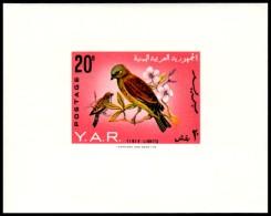 ~~~ Yemen 1965 - Fauna Birds - Mi. Block 34B IMPERF  ** MNH OG - CV 35 Euro  ~~~ - Yemen