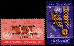 ~~~ Yemen 1966 - Tubercelosis - Mi. 449/450  ** MNH OG ~~~ - Yemen